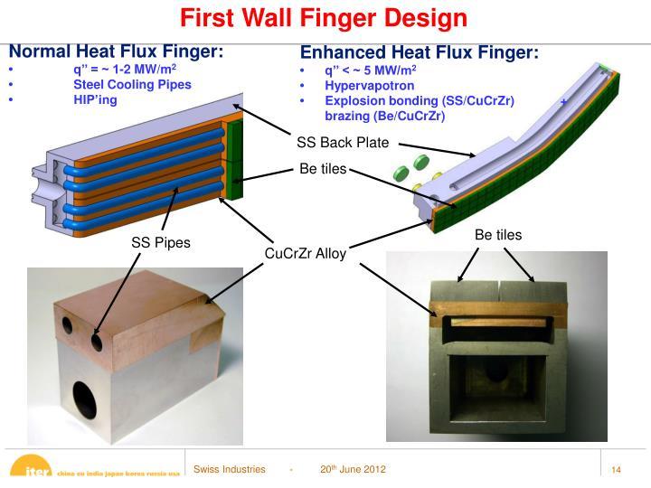 First Wall Finger Design