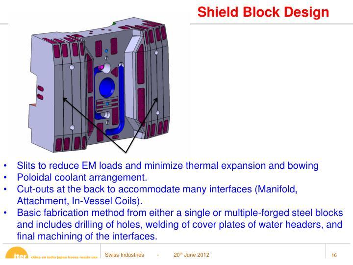 Shield Block Design