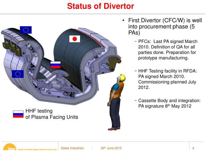 Status of Divertor
