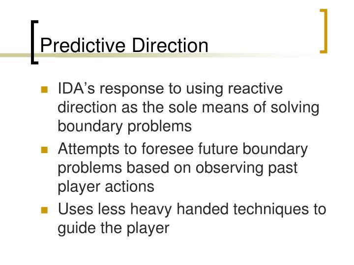 Predictive Direction