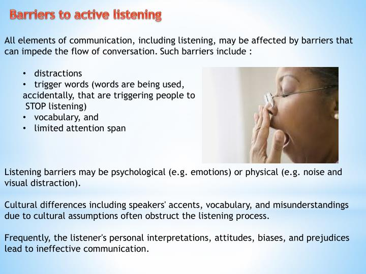listening barriers This ppt will help u, what are the barriers to effective listening.