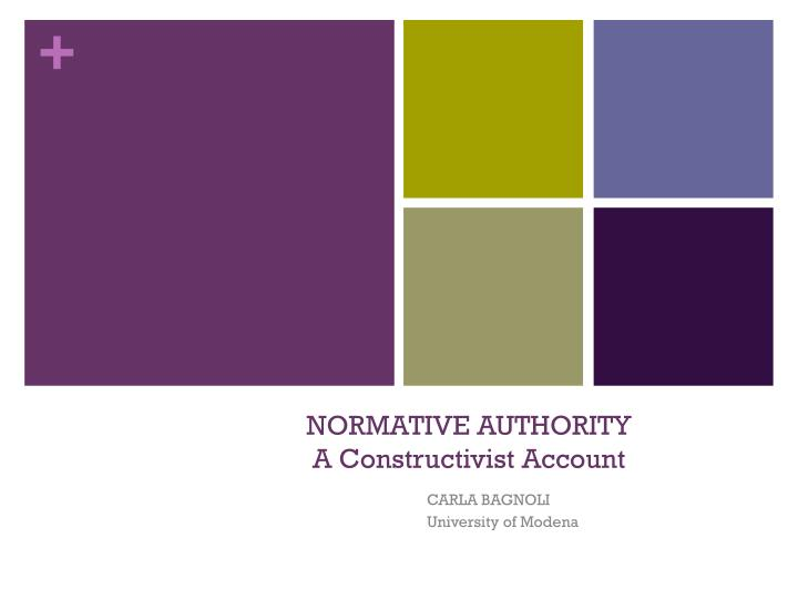 normative authority a constructivist account n.