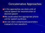 concatenative approaches1