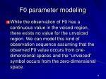 f0 parameter modeling