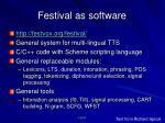 festival as software