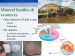 mineral families resources