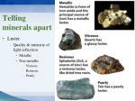 telling minerals apart