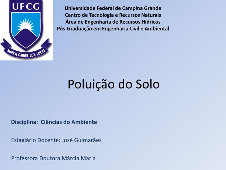polui o do solo n.