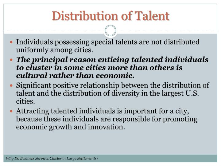 Distribution of Talent