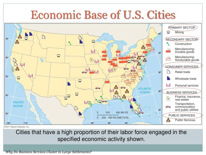 Economic Base of U.S. Cities