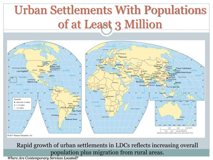 Urban Settlements With Populations