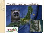 the third neutrino oscillation