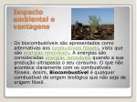 impacto ambiental e vantagens