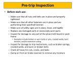 pre trip inspection