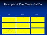 example of test cards 5 gpa