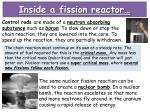 inside a fission reactor1