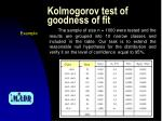 kolmogorov test of goodness of fit6
