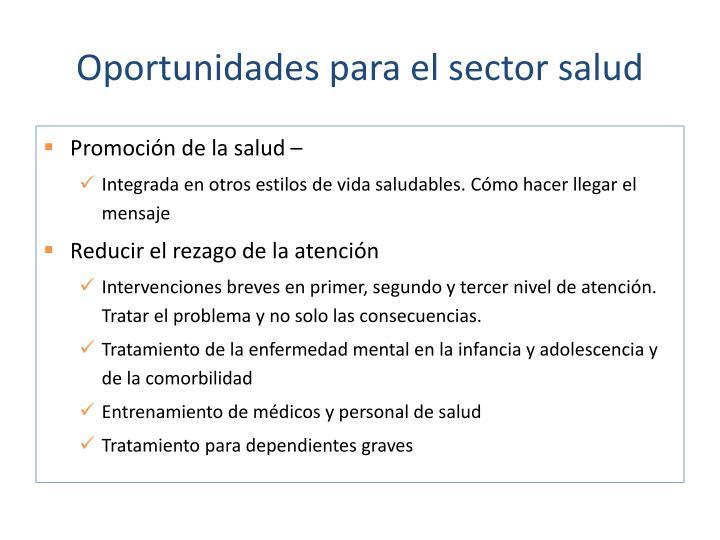 Oportunidades para el sector salud