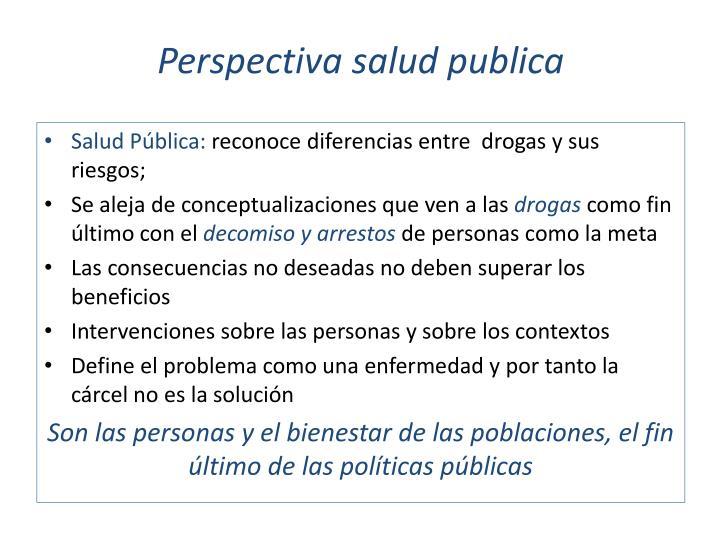 Perspectiva salud publica