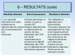 6 resultats suite