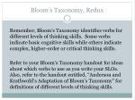 bloom s taxonomy redux