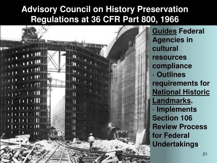 Advisory Council on History Preservation