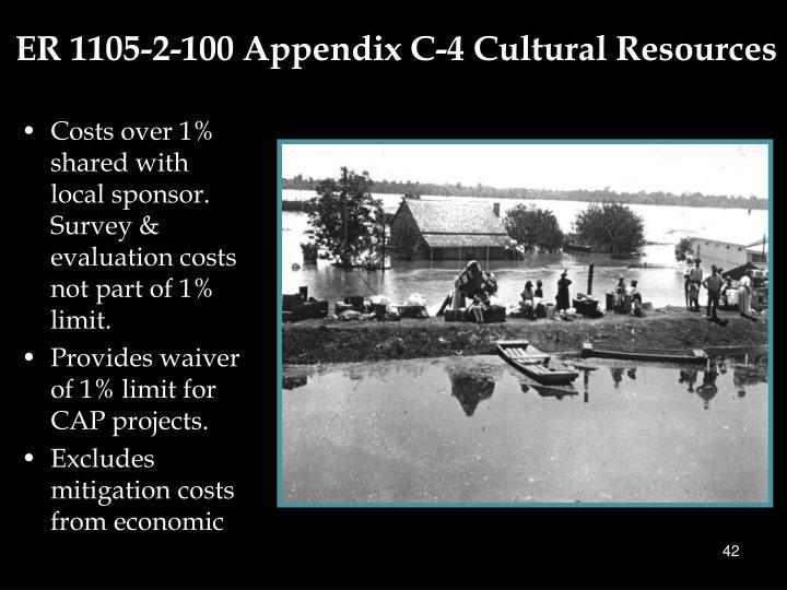 ER 1105-2-100 Appendix C-4 Cultural Resources