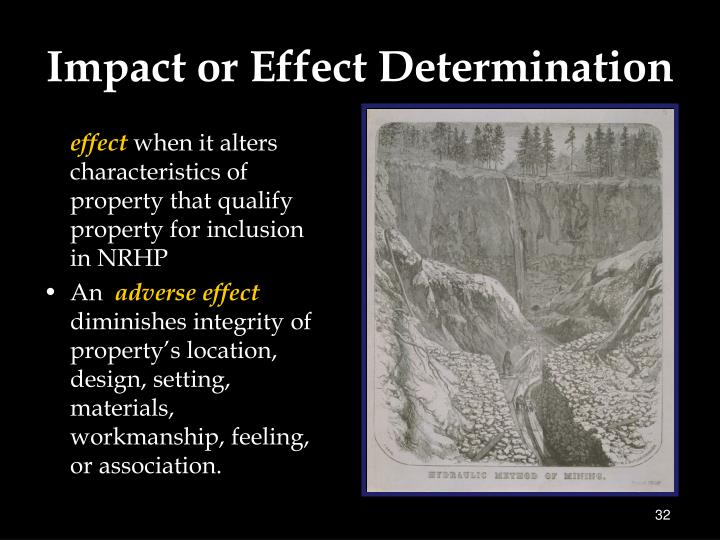 Impact or Effect Determination