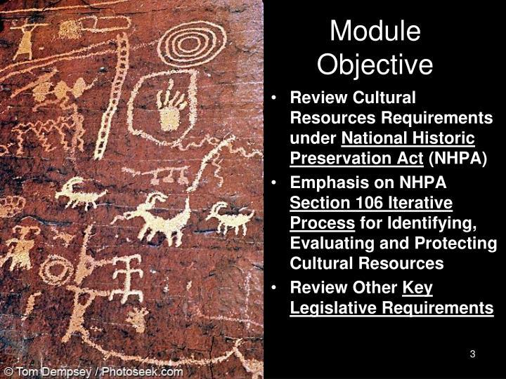 Module objective