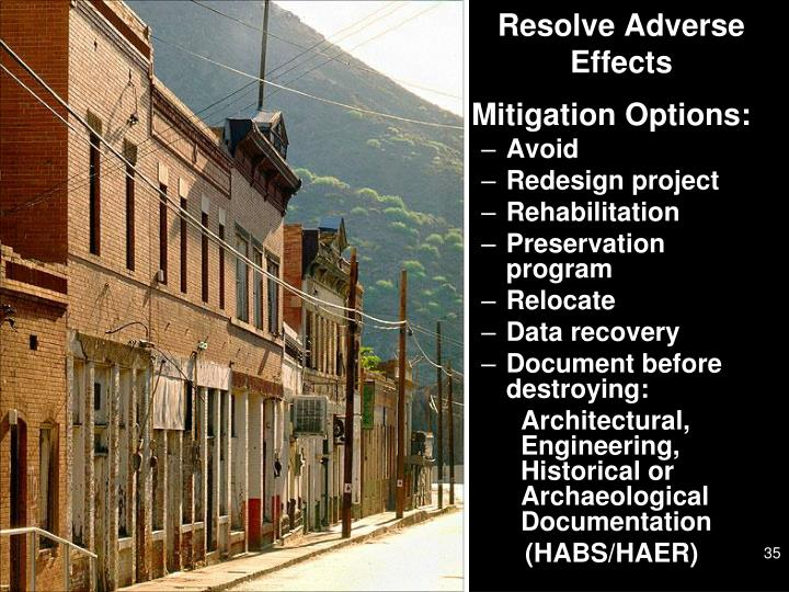 Resolve Adverse Effects