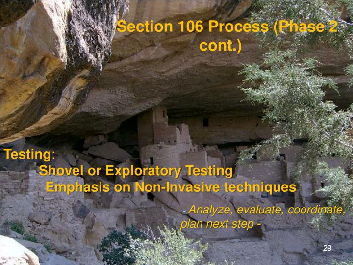 Section 106: Iterative Process