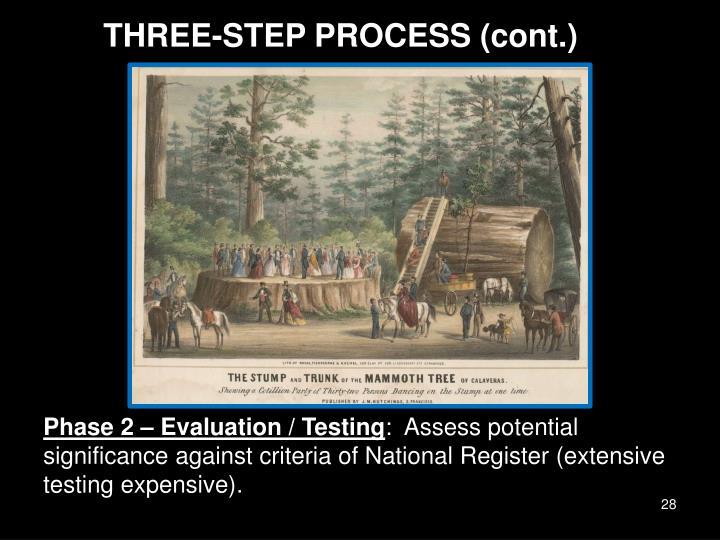 THREE-STEP PROCESS (cont.)