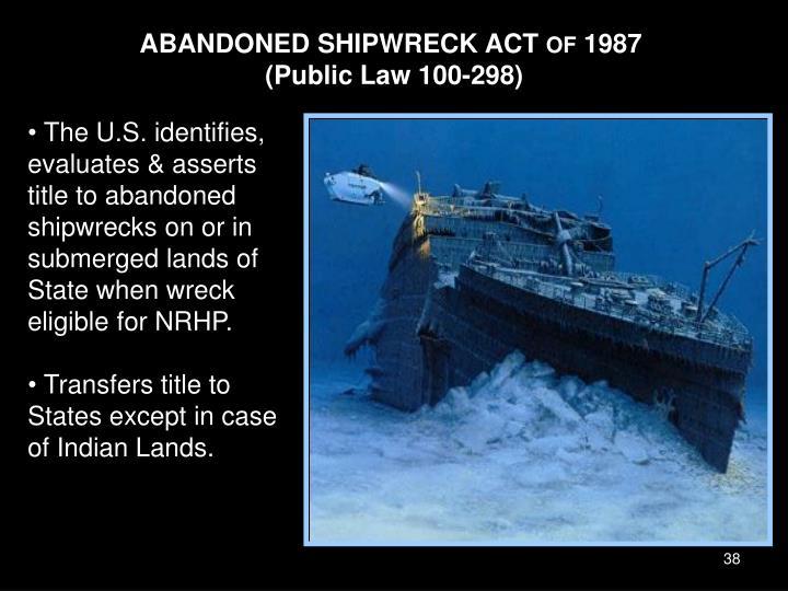 ABANDONED SHIPWRECK ACT