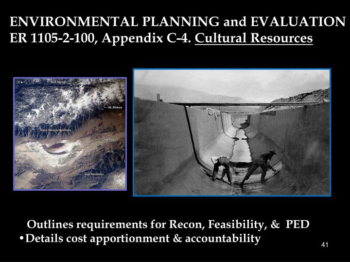 ENVIRONMENTAL PLANNING and EVALUATION
