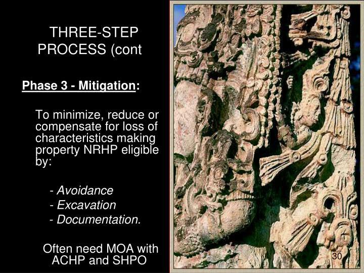 THREE-STEP PROCESS (cont