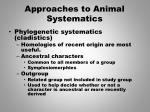 approaches to animal systematics1