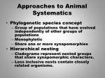 approaches to animal systematics3