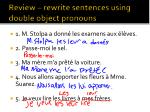 review rewrite sentences using double object pronouns