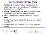 service improvement plan