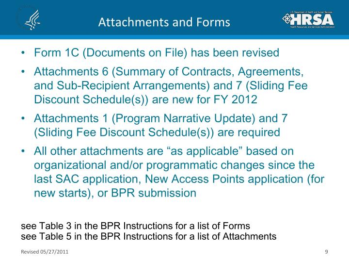 Attachments and Forms
