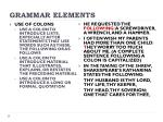 grammar elements11