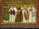 early byzantine justinian and his courtiers san vitale 547