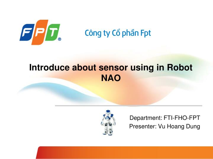 introduce about sensor using in robot nao n.