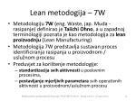 lean metodogija 7w