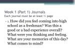 week 1 part 1 journals each journal must be at least page