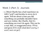 week 3 part 3 journals