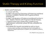 statin therapy and kidney function6