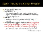 statin therapy and kidney function7