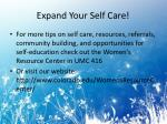 expand your self care