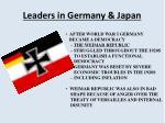 leaders in germany japan